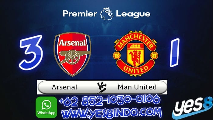 Forecast of the Yes8indo analysis team  Arsenal VS M.UNITED 3 1  let's play on Yes8 …